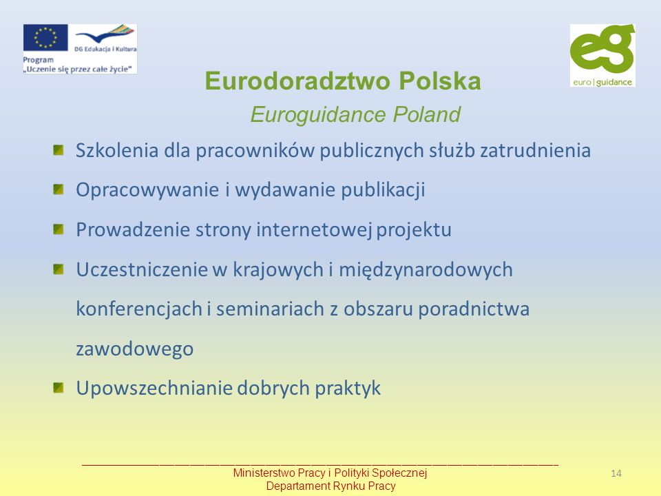 Eurodoradztwo Polska Euroguidance Poland