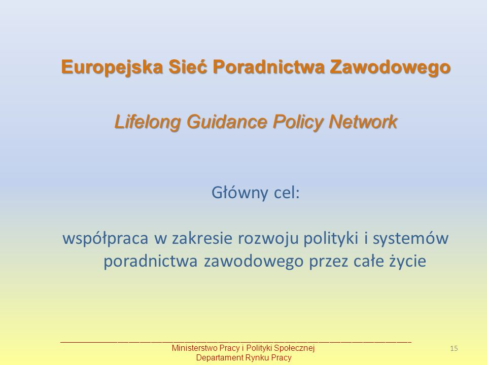 Europejska Sieć Poradnictwa Zawodowego