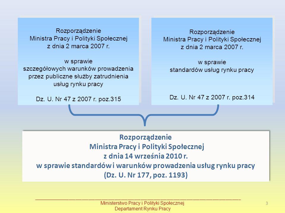 Ministra Pracy i Polityki Społecznej z dnia 14 września 2010 r.