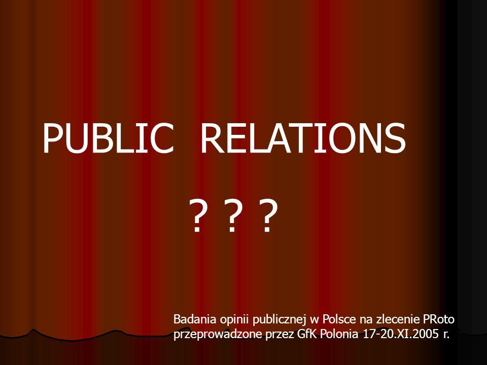 PUBLIC RELATIONS .