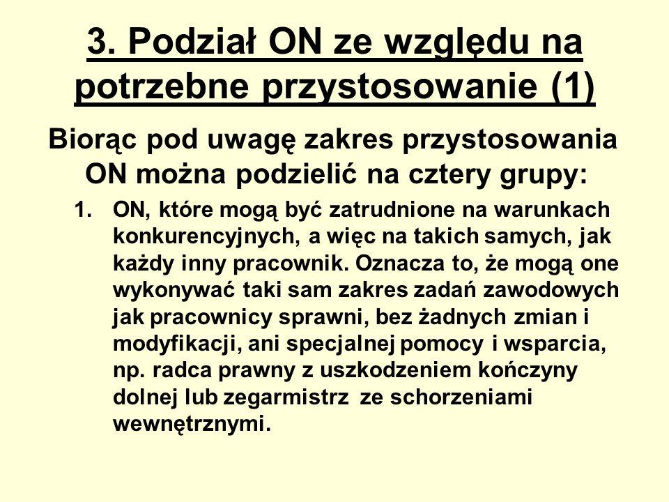 3. Podział ON ze względu na potrzebne przystosowanie (1)