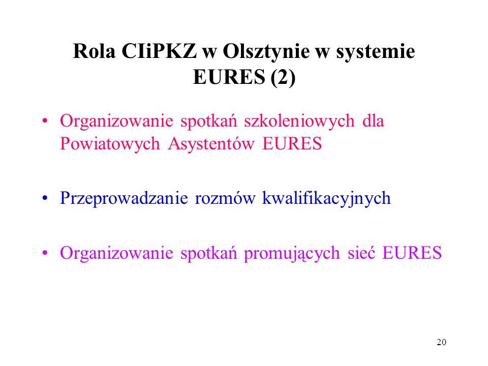 Rola CIiPKZ w Olsztynie w systemie EURES (2)