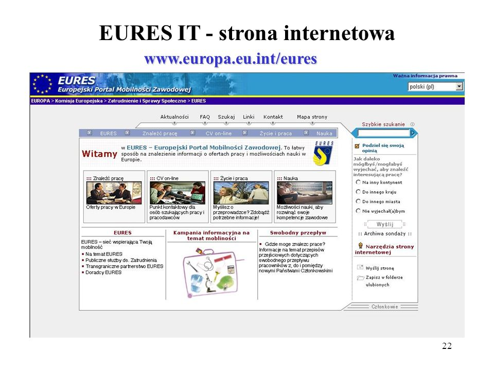 EURES IT - strona internetowa