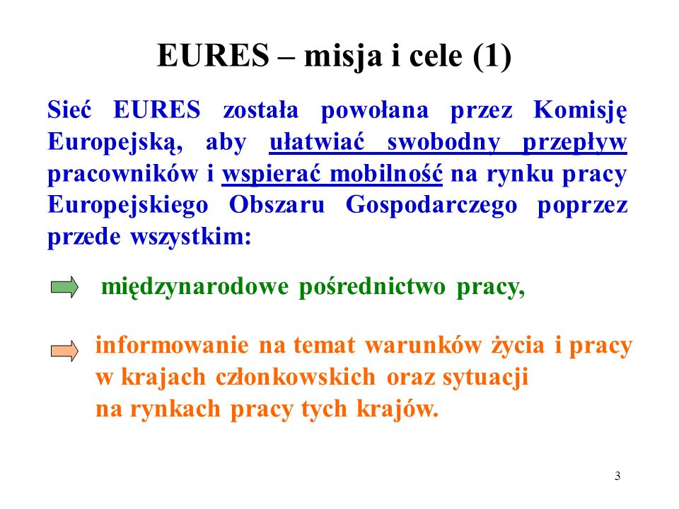 EURES – misja i cele (1)