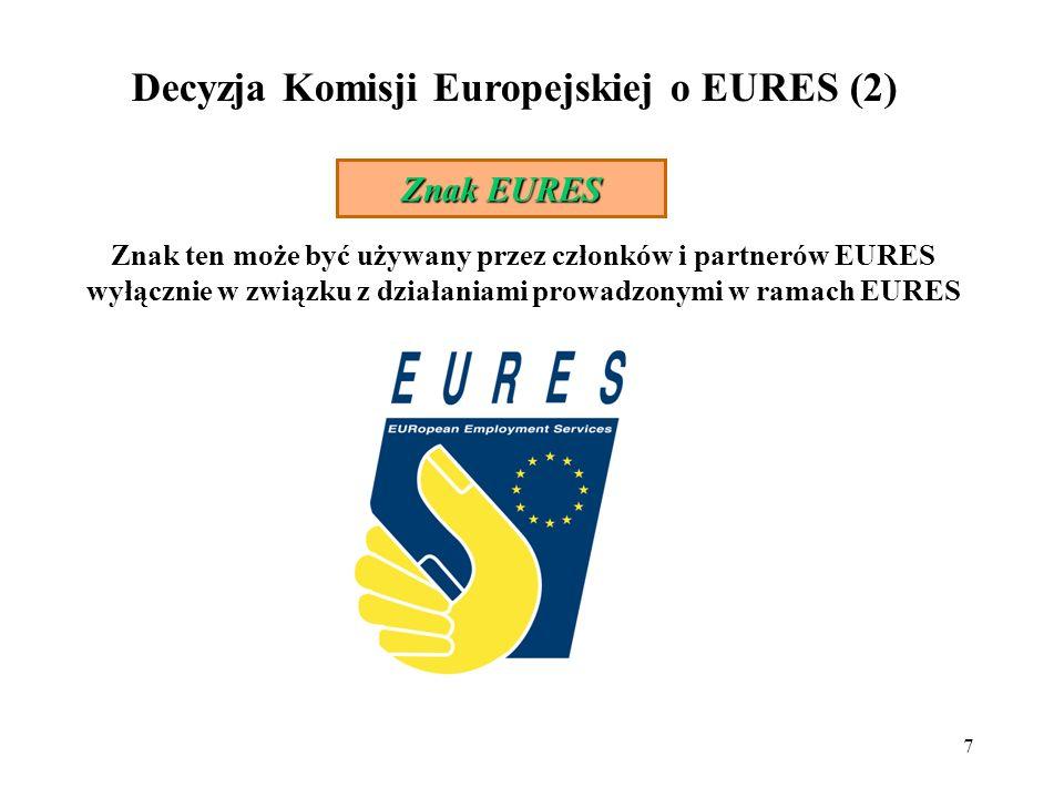 Decyzja Komisji Europejskiej o EURES (2)