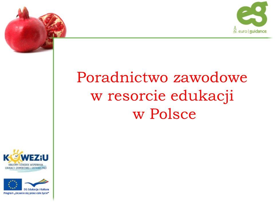 Poradnictwo zawodowe w resorcie edukacji w Polsce