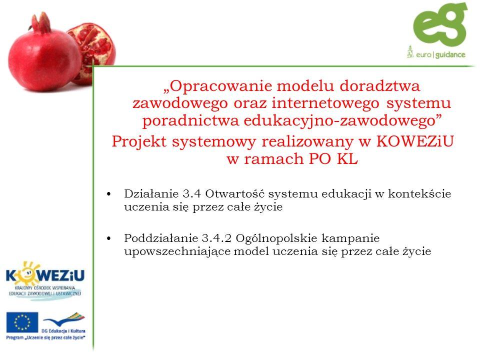 Projekt systemowy realizowany w KOWEZiU w ramach PO KL