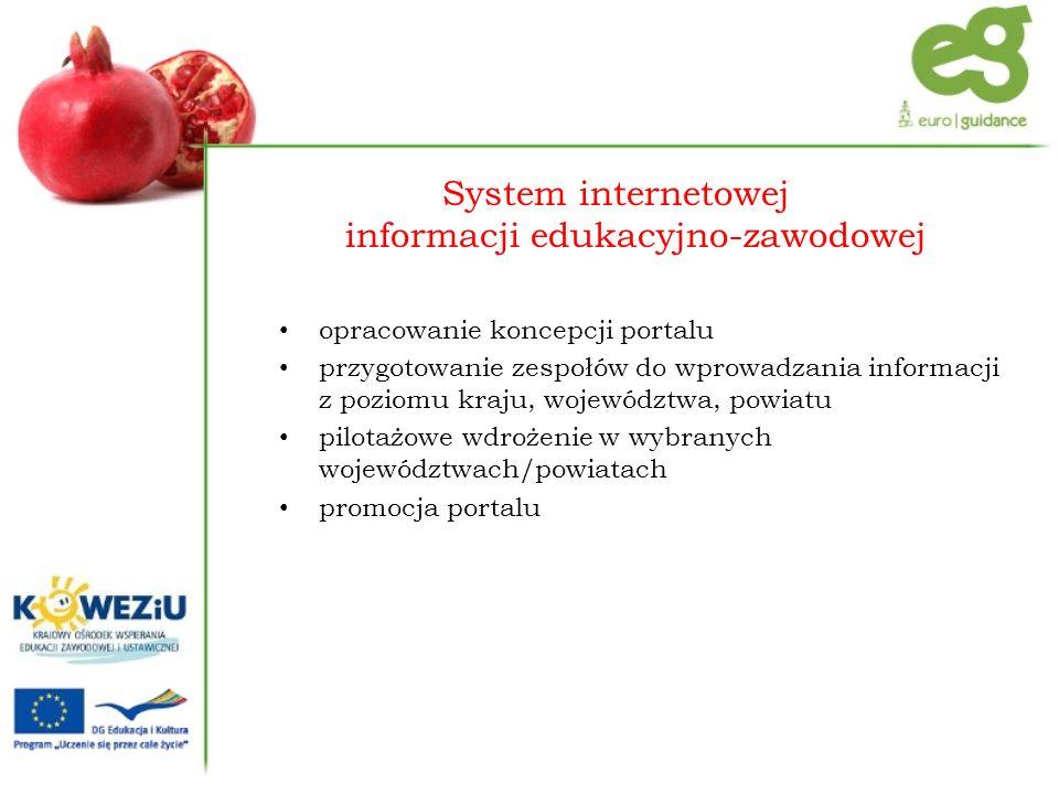 System internetowej informacji edukacyjno-zawodowej