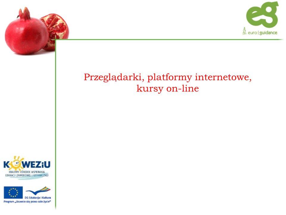 Przeglądarki, platformy internetowe, kursy on-line
