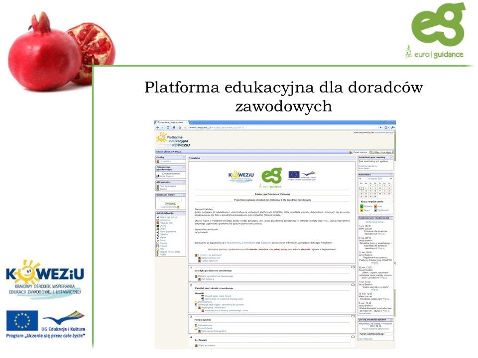 Platforma edukacyjna dla doradców zawodowych