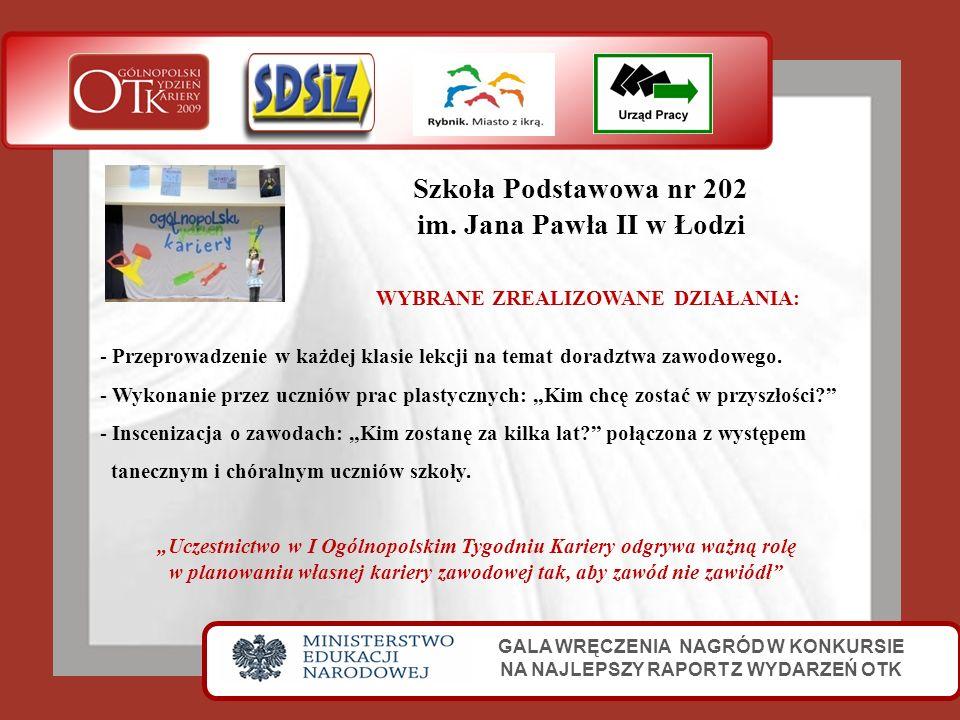 Szkoła Podstawowa nr 202 im. Jana Pawła II w Łodzi