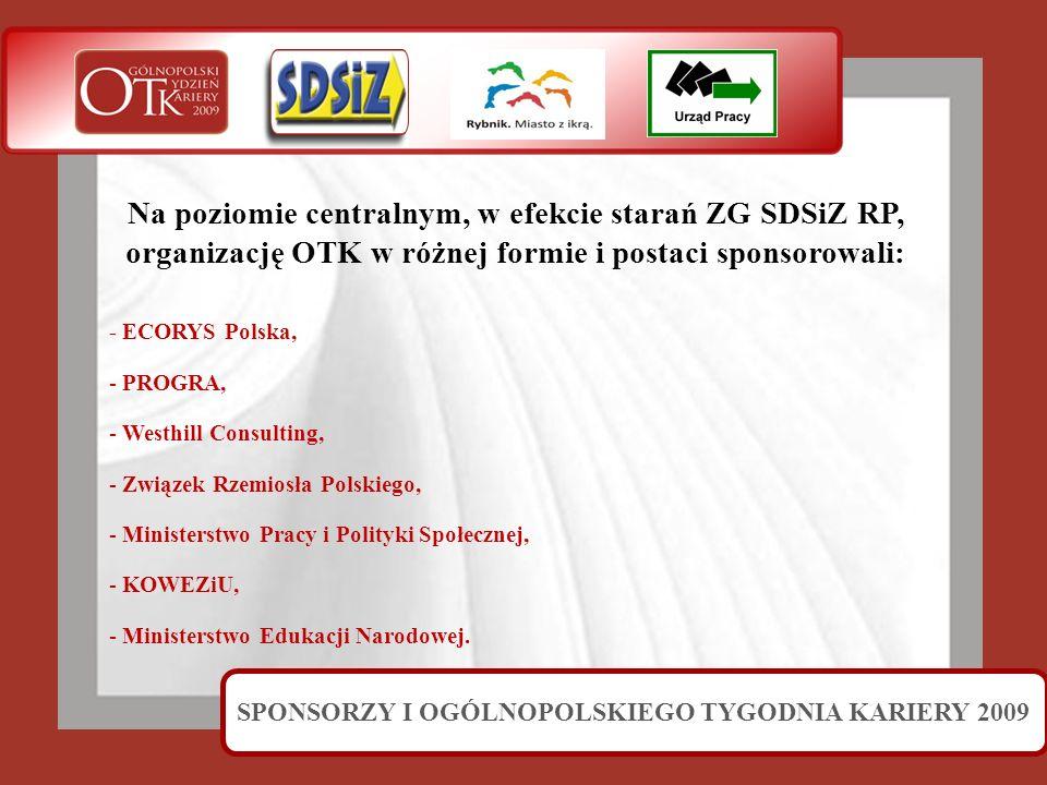 SPONSORZY I OGÓLNOPOLSKIEGO TYGODNIA KARIERY 2009