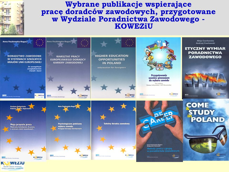 Wybrane publikacje wspierające pracę doradców zawodowych, przygotowane