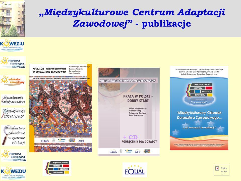 """""""Międzykulturowe Centrum Adaptacji Zawodowej - publikacje"""