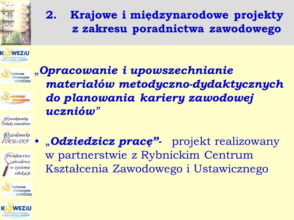 Krajowe i międzynarodowe projekty z zakresu poradnictwa zawodowego