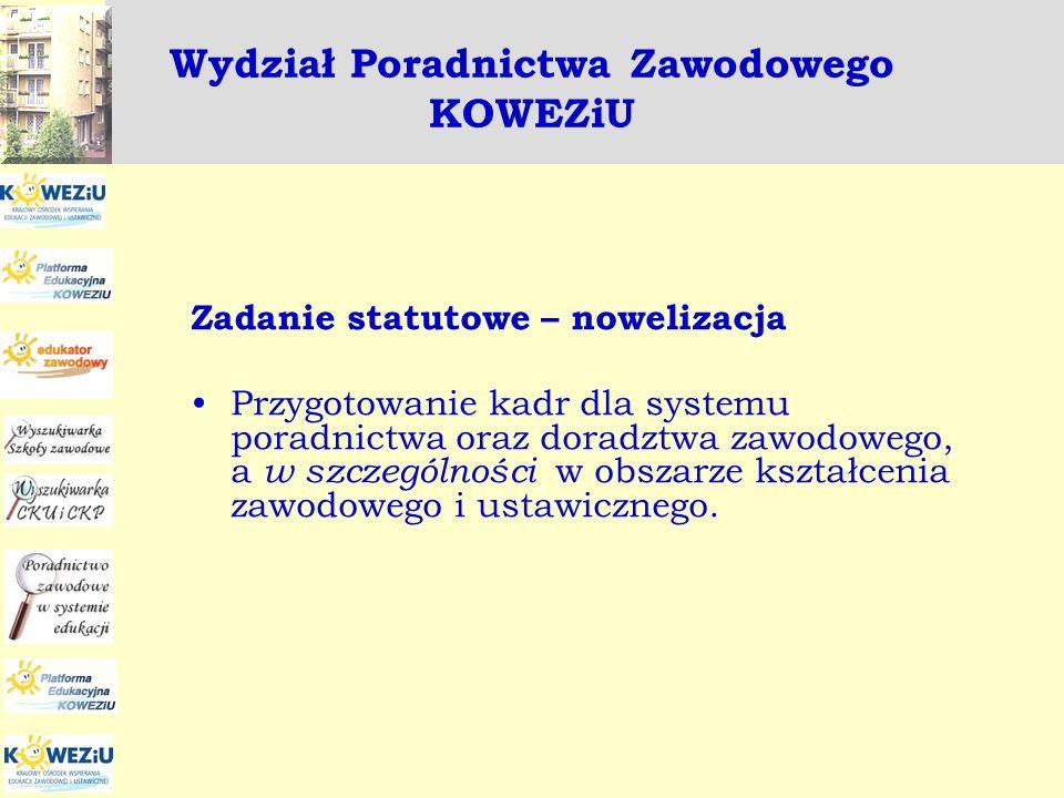 Wydział Poradnictwa Zawodowego KOWEZiU