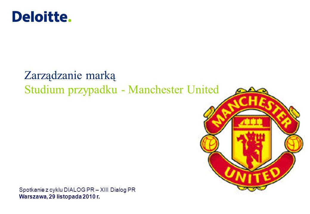 Zarządzanie marką Studium przypadku - Manchester United