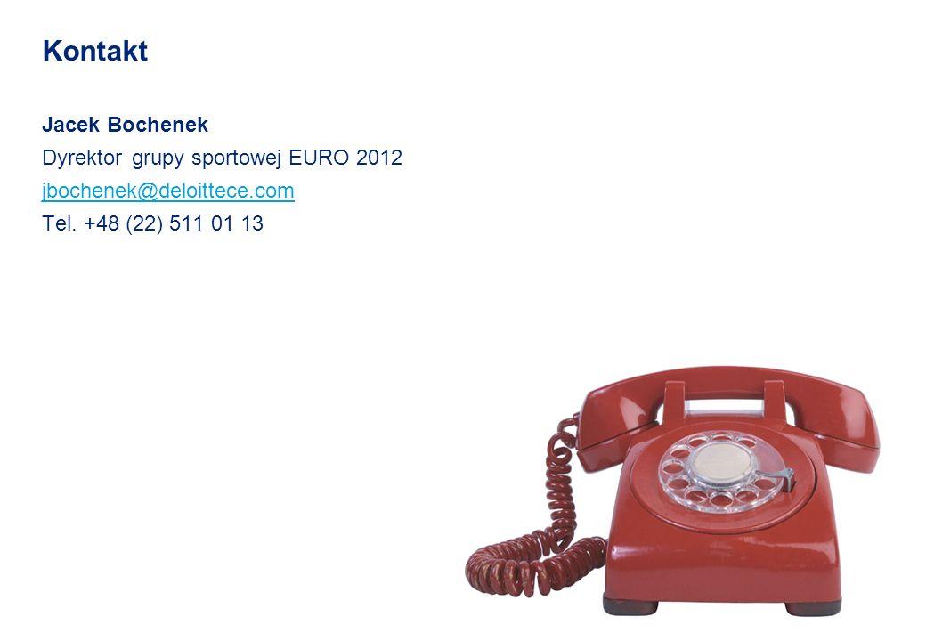 Kontakt Jacek Bochenek Dyrektor grupy sportowej EURO 2012