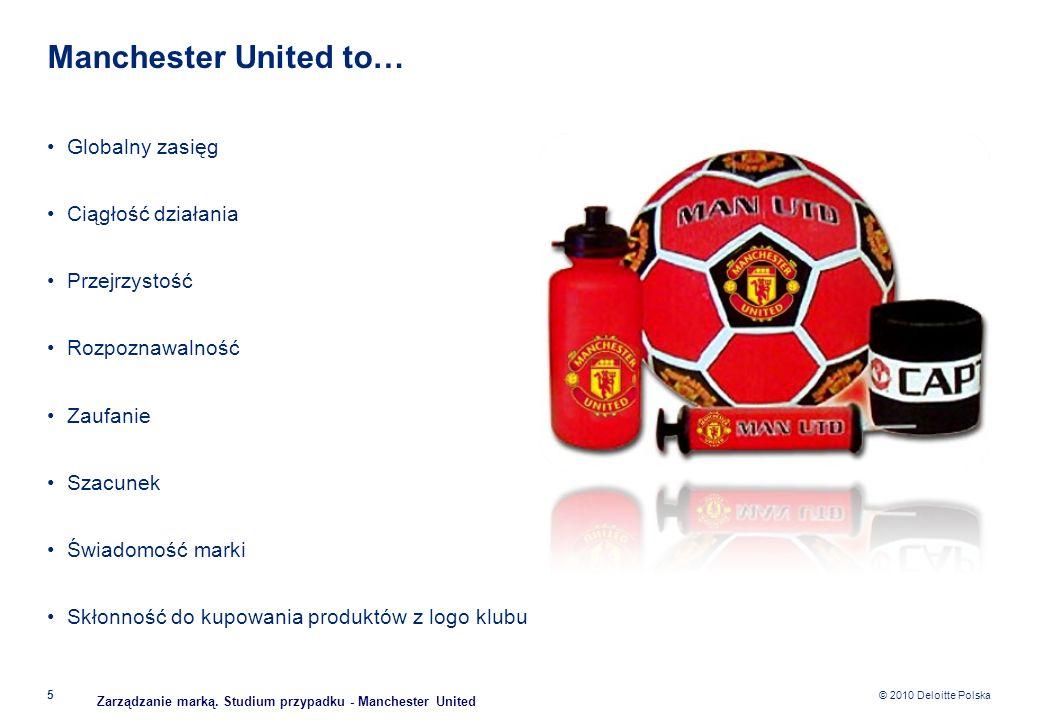 Manchester United to… Globalny zasięg Ciągłość działania Przejrzystość