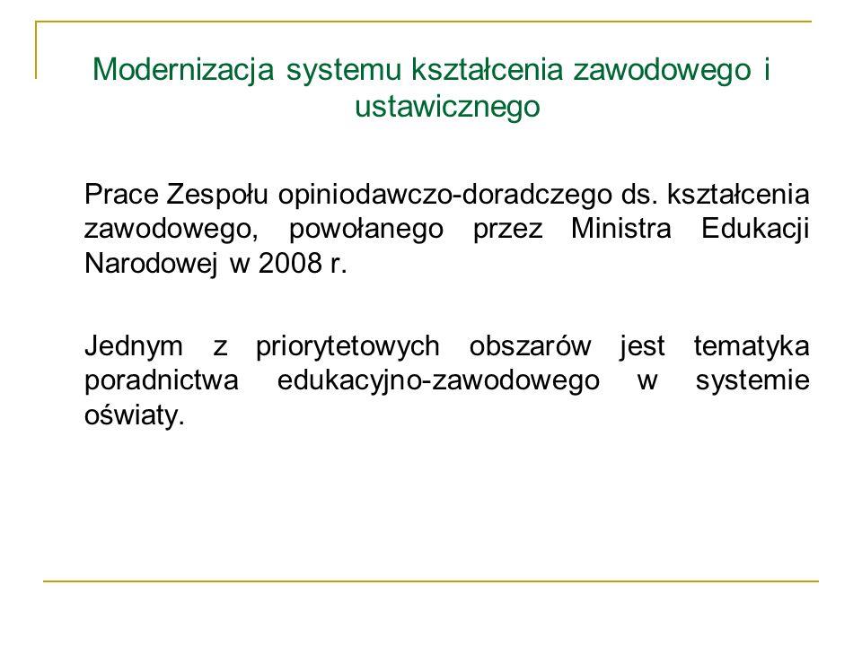Modernizacja systemu kształcenia zawodowego i ustawicznego