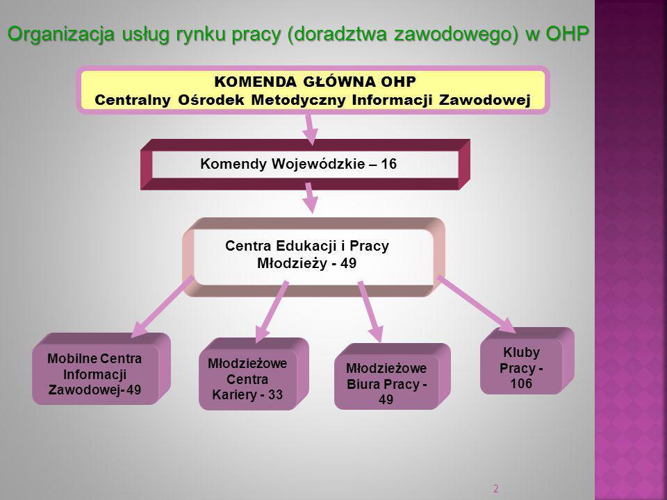 Organizacja usług rynku pracy (doradztwa zawodowego) w OHP