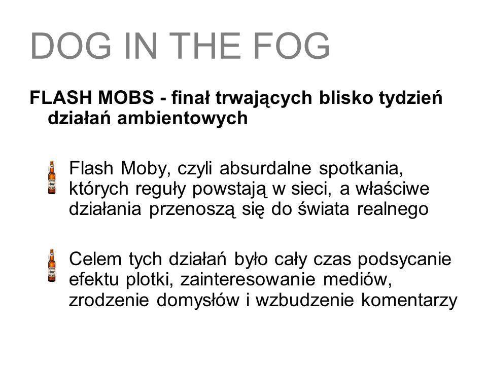 DOG IN THE FOGFLASH MOBS - finał trwających blisko tydzień działań ambientowych.