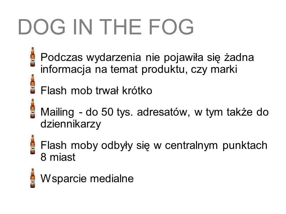 DOG IN THE FOG Flash mob trwał krótko
