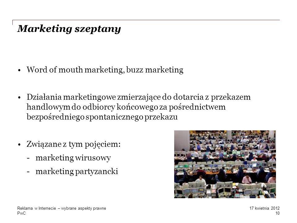 Marketing szeptany Word of mouth marketing, buzz marketing