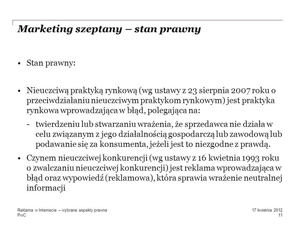 Marketing szeptany – stan prawny