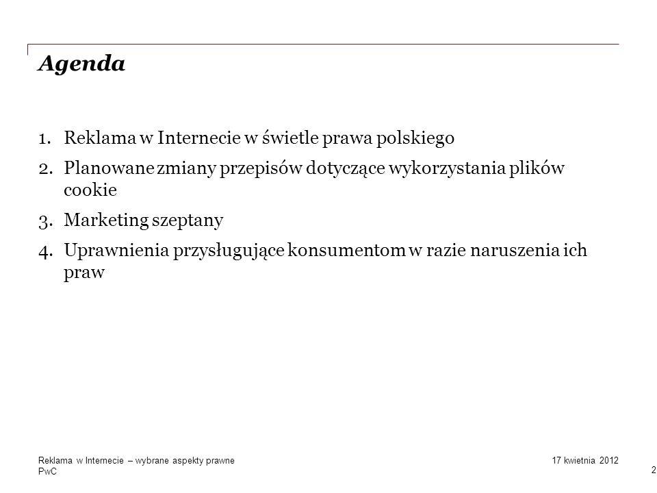 Agenda Reklama w Internecie w świetle prawa polskiego