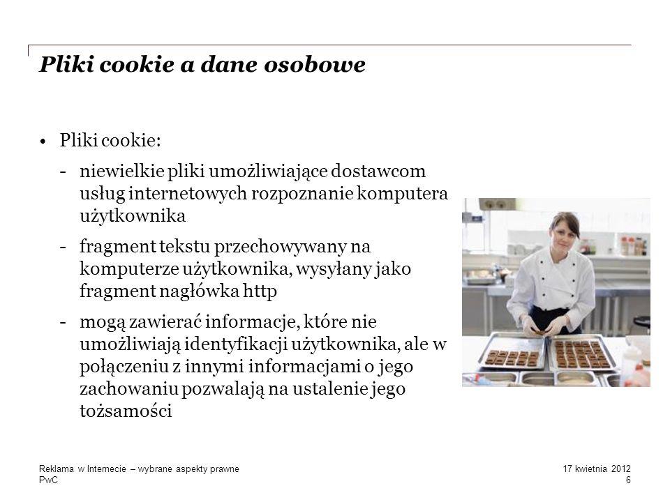 Pliki cookie a dane osobowe