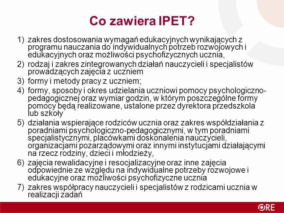 Co zawiera IPET