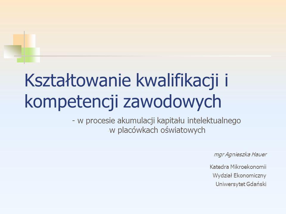 Kształtowanie kwalifikacji i kompetencji zawodowych