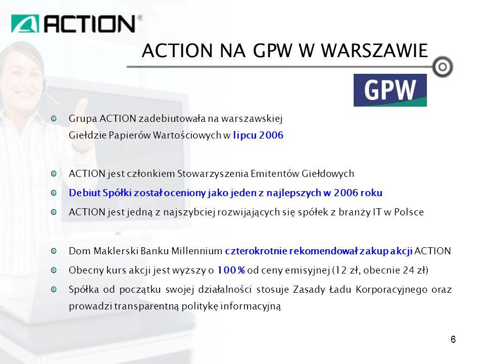 ACTION NA GPW W WARSZAWIE