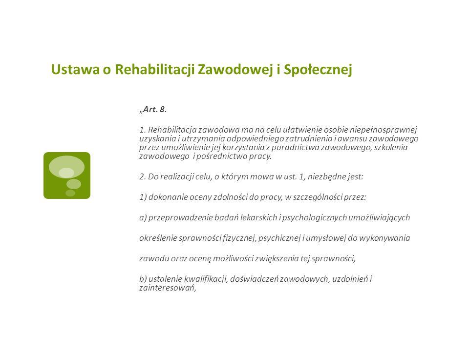 Ustawa o Rehabilitacji Zawodowej i Społecznej