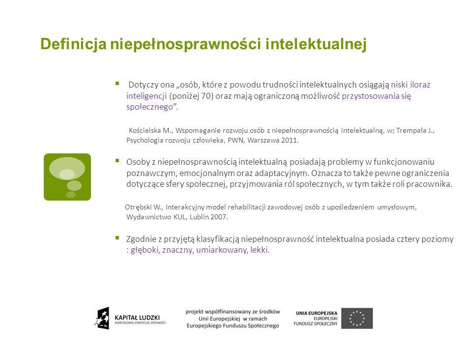 Definicja niepełnosprawności intelektualnej
