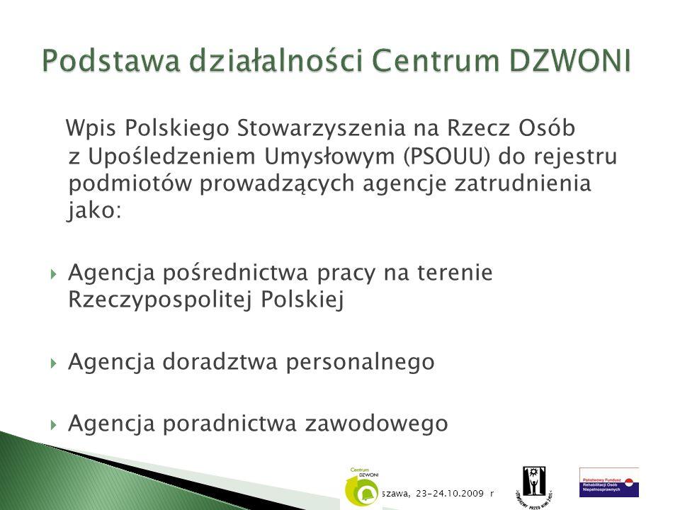 Podstawa działalności Centrum DZWONI