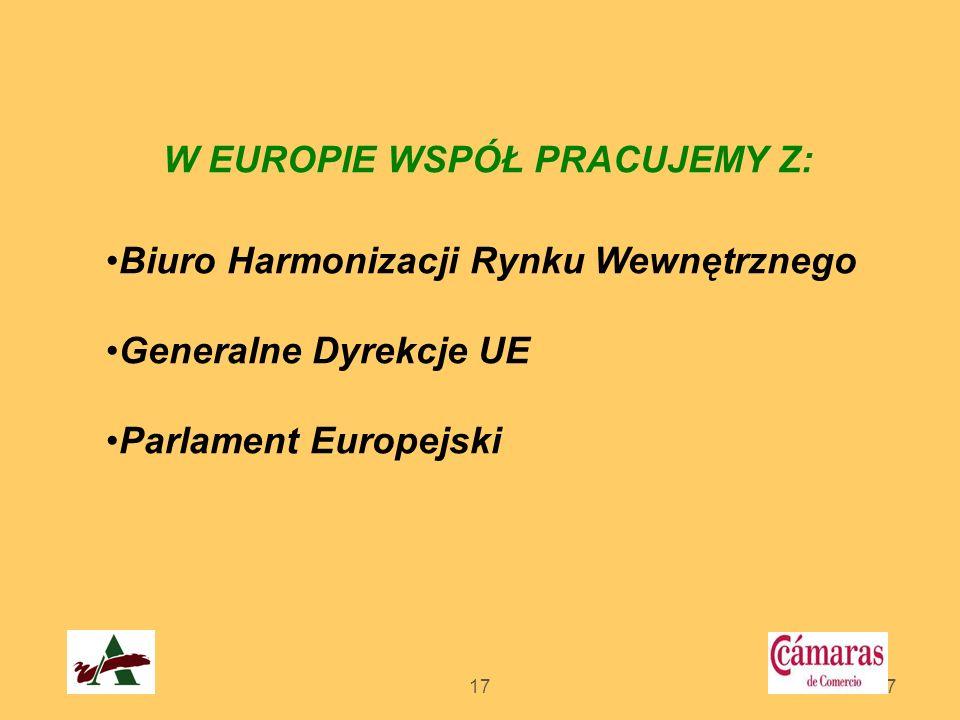 W EUROPIE WSPÓŁ PRACUJEMY Z: