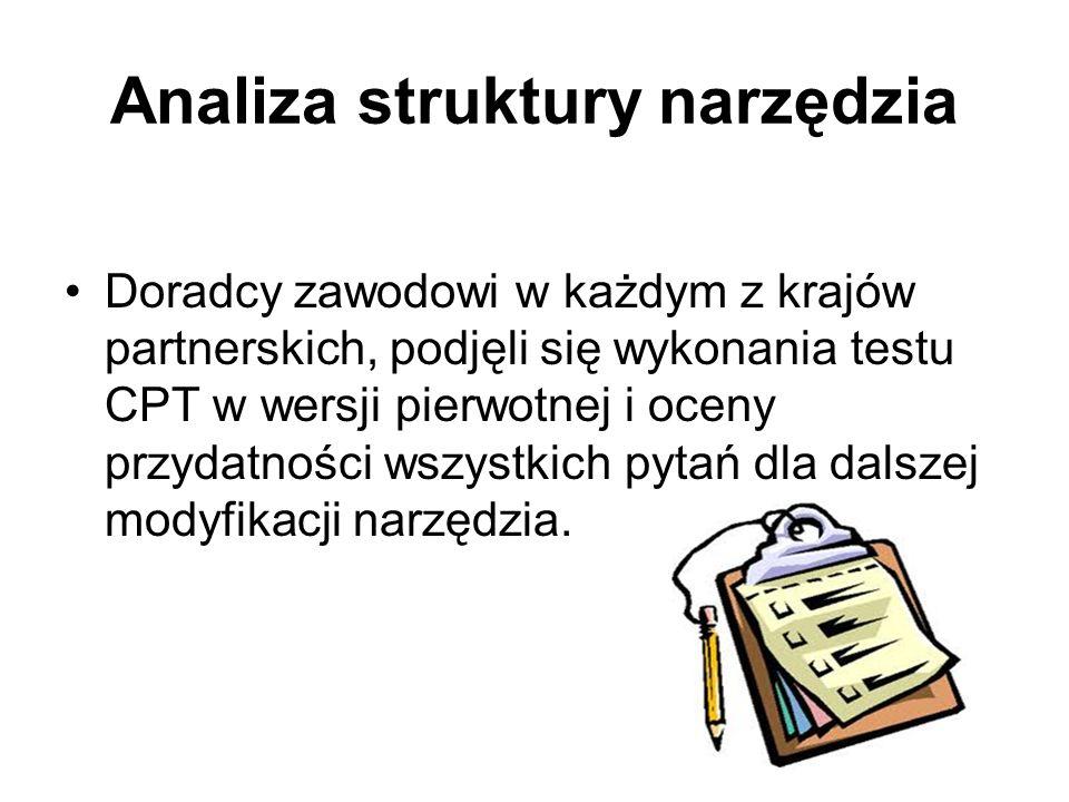 Analiza struktury narzędzia