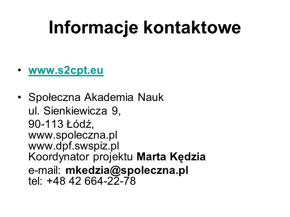 Informacje kontaktowe