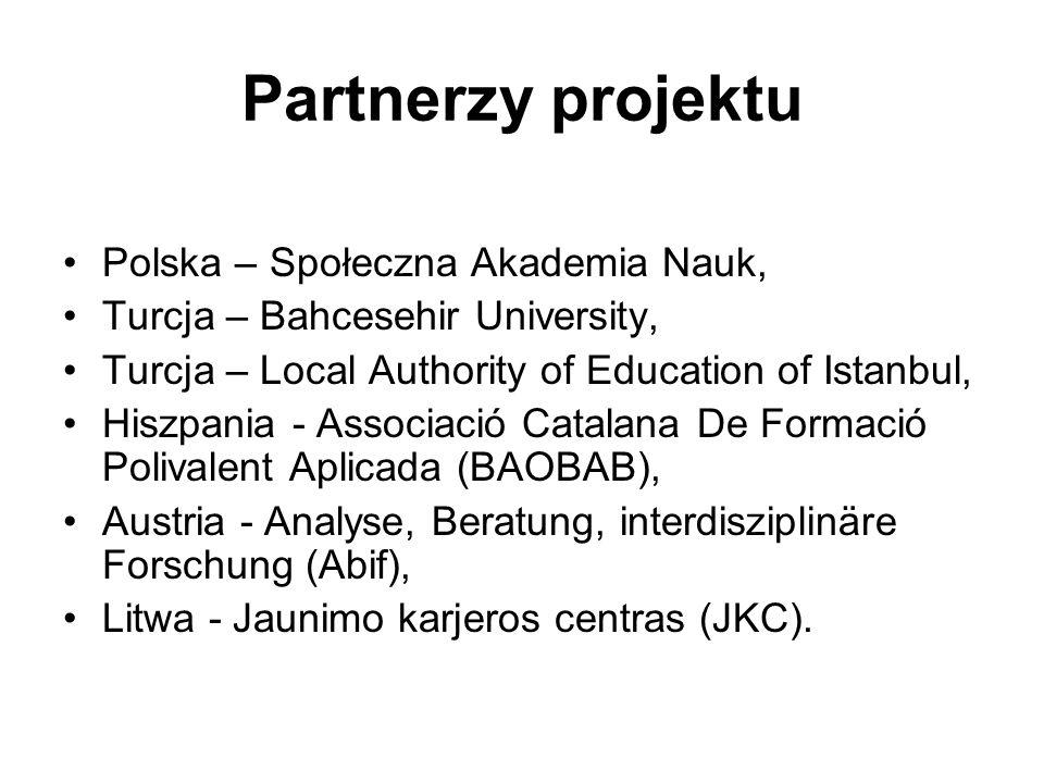 Partnerzy projektu Polska – Społeczna Akademia Nauk,