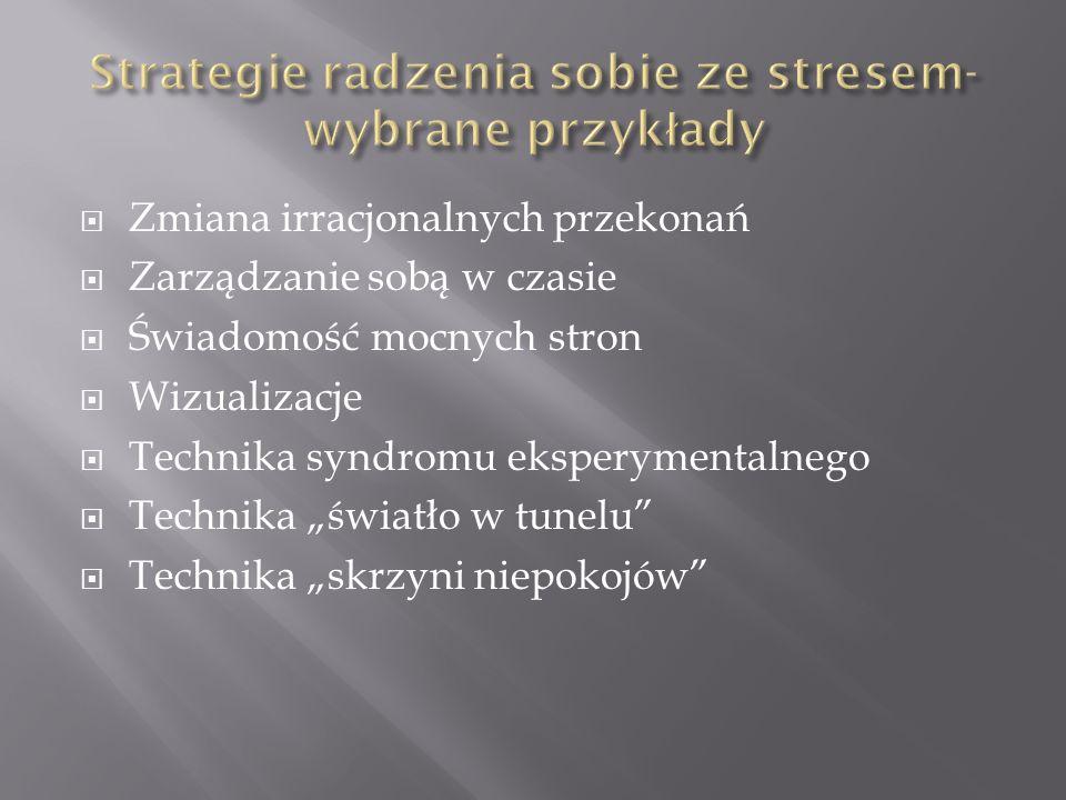 Strategie radzenia sobie ze stresem- wybrane przykłady