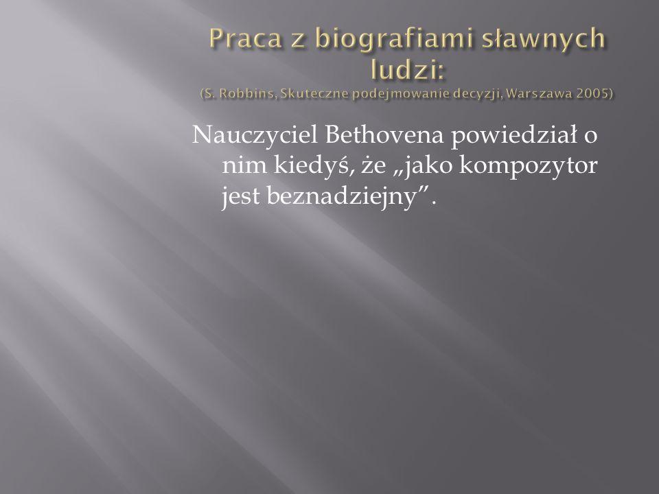 Praca z biografiami sławnych ludzi: (S