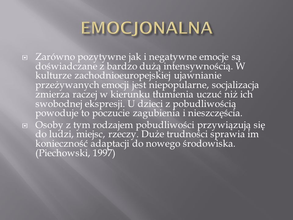 EMOCJONALNA