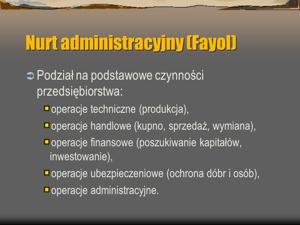 Nurt administracyjny (Fayol)