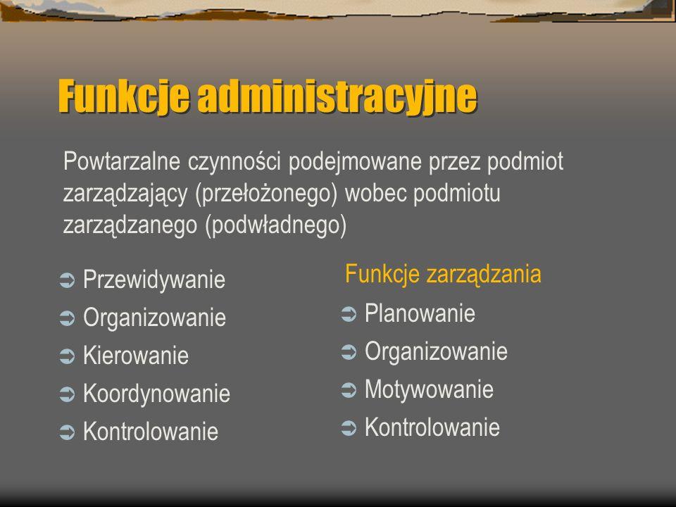 Funkcje administracyjne