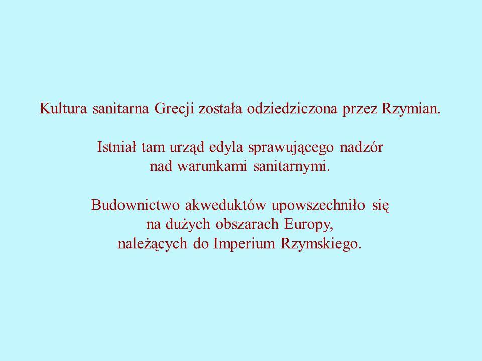 Kultura sanitarna Grecji została odziedziczona przez Rzymian