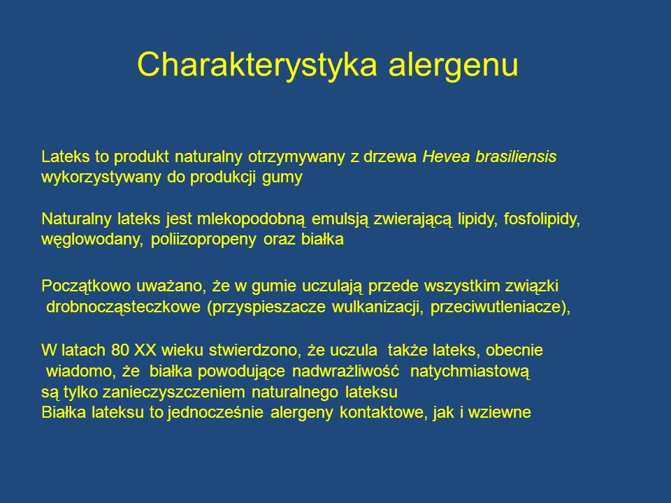 Charakterystyka alergenu