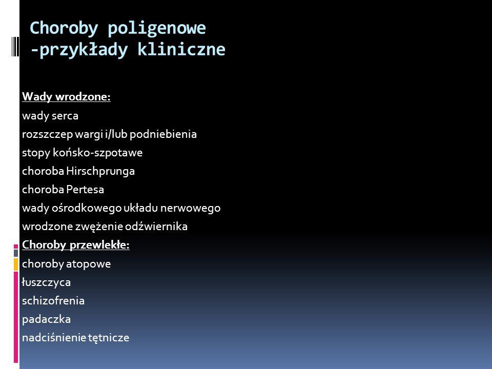 Choroby poligenowe -przykłady kliniczne