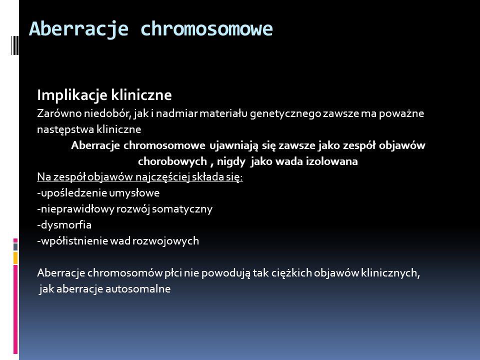 Aberracje chromosomowe